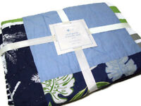 Pottery Barn Kids Multi Colors Surf Patch Palm Tree Baby Toddler Crib Quilt New
