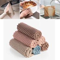 4pcs Microfiber Dishcloth Kitchen Washing Cleaning Towel Dish Cloth Rag Wipe