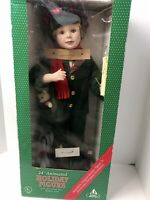 """Animated 24""""  Motion Holiday Christmas Figurine Child With Candle Vintage"""