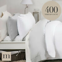 Luxury Egyptian Cotton 400 Thread Count Bed Sheets Fitted Flat, Duvet Covers