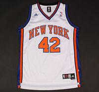 New York Knicks Adidas White Jersey Lee Swingman Sewn 42 size Large