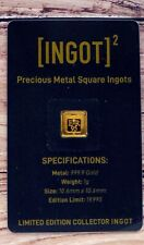 More details for 1g gold bar ingot queen's 95th birthday in  sealed assay card with coa
