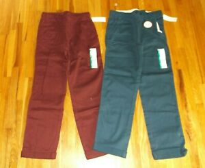 new BOY size 10-12 fall winter clothes 2x long pull-on pants