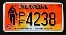"""NEVADA """"  FIREFIGHTER - FIRE FIGHTER """" NV Specialty License Plate"""