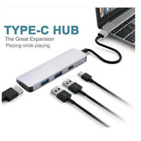 Type C to HDMI 4K 2 USB 3.0 hub PD Charging Adapter for MacBook Pro Samsung S8