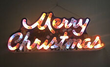 Vintage MERRY CHRISTMAS Multi Colored Light Up Sign Decoration Dynasty Classics