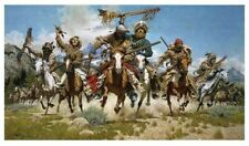 """Frank McCarthy """"Down From The Mountains Trappers"""" Signed Numbered RARE Print EXC"""