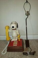 1970s American Telecommunications  Peanuts Snoopy Woodstock Telephone Lamp Phone