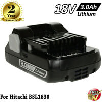For HITACHI BSL1830C 18V 18Volt Lithium Ion Battery 3.0Ah BSL1840 BSL1815 Tool