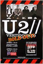 U2 - Vertigo Tour 2005 - Original Rolled Rock Promo Concert Poster (2005)