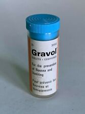 Vintage Gravol Tablets Bottle Montreal Canada Frank W Horner Ltd