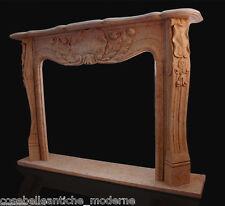 Caminetto Marmo Rosa Cornice Camino Classic Home Design Marble Fireplace L.150cm