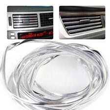 4M Car U Shape Silver Chrome Air Condition Vent Grille Cover Trim Strip Bumper