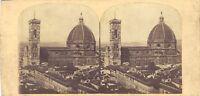 Firenze Cattedrale Santa Maria Del Fiore Italia Foto Stereo Vintage Albumina