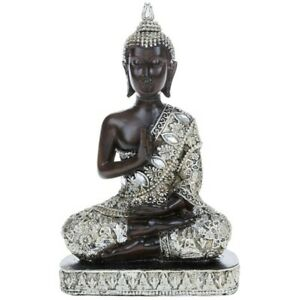 THAI BUDDHA Sitting Ornament Figure Statue Sculpture MEDITATING Figurine