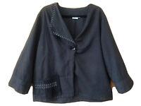 TS Taking Shape-Assymetric Light Jacket Top-Size 18