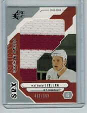 2003-04 SPX MATTHEW SPILLER #203 ROOKIE 2-COLOR JUMBO JERSEY SWATCH 459/999