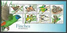 Australia-Birds-Finches of Australia min sheet mnh limited printing