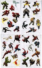 Marvel Super Heroes Stickers 4 Large Sheets! X-Men Iron Man HULK Wolverine