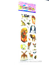 2019 New Zoo Stickers Lot Kid Craft Paper Scrapbooking Puffy Animal Xmas Gift Us