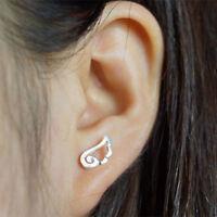 1Pc Women Fashion Silver Plated Wings Shape Ear Stud Earring Jewelry Gift JA