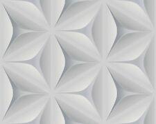 Tapete Vlies 3D Blumen Aquarell blaugrau Scandinavian II 96042-1 (2,50?/1qm)