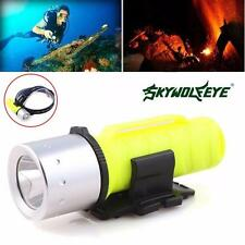 3500LM XM-L T6 LED Scuba Diving Flashlight Torch Lamp Underwater 60M Waterproof