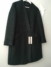 Zara Green Mohair Wool Coat Size S UK 8/10 Rrp £99 Genuine