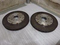 2 x KERAMIK FERRARI FF F12 274335 CCM HA Carbon Ceramic TOP 360 x 32 hinten PAAR