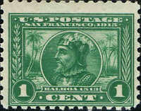 #401 1915 1c PANAMA-PACIFIC EXPO PERF 10 ISSUE--MINT-OG/NH