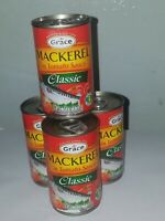 GRACE MACKEREL CLASSIC (AUTHENTIC MACKEREL FROM JAMAICA ) 4 TINS 5.5 OZ EA.