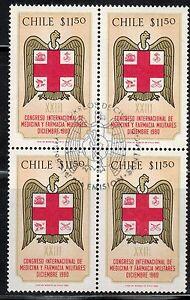 Chile 1988 FD Postmark Congreso Medicina y Farmacias militares Army MNH