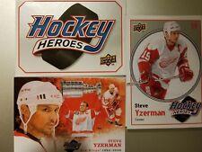 2010-11 Upper Deck Hockey Heroes Steve Yzerman Complete Set Header+Art