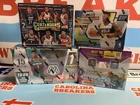 4 Box NBA RT Break 19/20 Panini Optic Contenders, Prizm Retail, & Mosaic Hobby