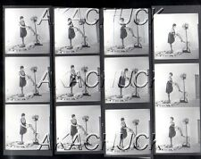 Model w Curls Stockings HENDRICKSON Negatives & Photograph Contact Sheet D640