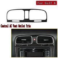 Real Carbon Fiber Central AC Vent Outlet Trim For VW Golf Vi Gti R MK6 2008-2012