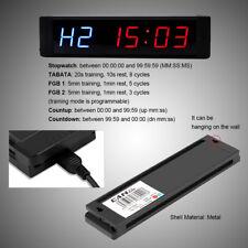 interval workout timer ebayprogrammable crossfit led interval timer training timer workout w remote inm