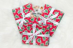 Liberty Of London  Fat Quarter Christmas Merry And Bright Fabric 5 x FQ Bundle