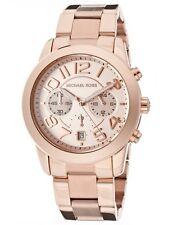 New Michael Kors Mercer Rose Gold Chronograph Stainless Steel MK5727 Women Watch