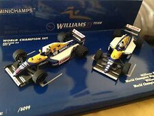 1:43 Minichamps F1 WILLIAMS WORLD CHAMPION Set 4 Alain Prost Nigel Mansell 1/43