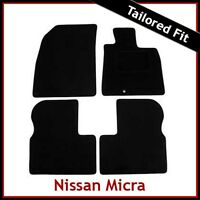 Nissan Micra Mk4 K13 2010-2016 Tailored Fitted Carpet Car Floor Mats BLACK