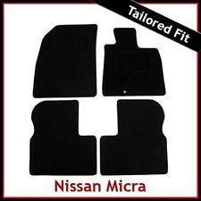 NISSAN MICRA Mk4 K13 2010-2016 MONTATO SU MISURA TAPPETINI AUTO MOQUETTE NERA