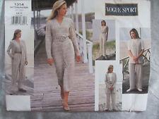 Vogue Designer Pattern 1314 - Sport Wardrobe Szs 8 - 10 - 12 Uncut