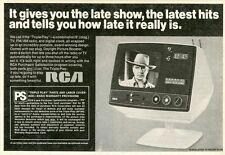 """""""RCA TV (Gary COOPER)"""" Annonce U.S. originale entoilée années 50 24x17cm"""