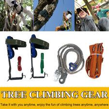 Tree Climbing Spike Set 2 Gears Safety Belt Adjustable Rope Lanyard Rescue Belt