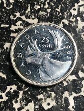 1965 Canada 25 Cents Lot#L7146 Silver! High Grade! Beautiful!