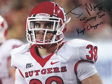 NCAA NFL Football Jersey Joe Martinek Rutgers Giants autograph signed 8x10 photo