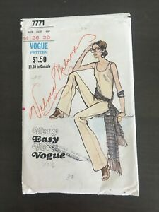 Vogue Vintage Pattern #7771 Jumpsuit and Scarf Size 14
