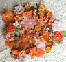 APRICOT ORANGE Tones - 65+ Flower Petals Mix 1-7cm Njoyfull Crafts WMF