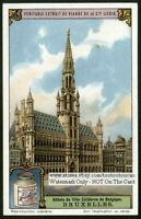 Brussels  Bruxelles Belgium Town Hall 1920s Trade Ad Card